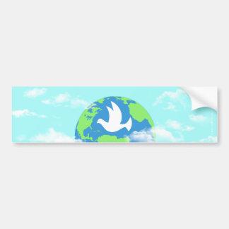 Peace Over The Earth Clouds Sky Bumper Sticker