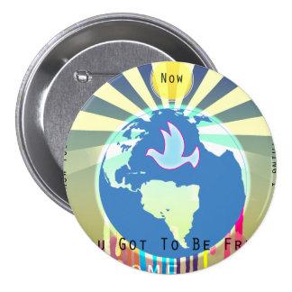 Peace Over The World Sony ATV Lyrics 3 Inch Round Button