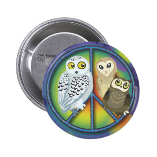 Peace Owl~ Buttons! Button
