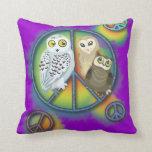 Peace Owl~pillow Pillows