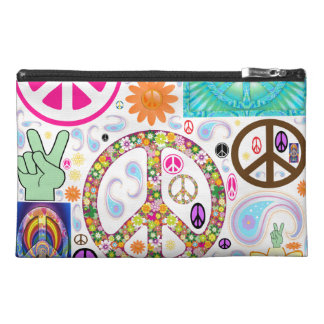 Peace & Paisley Collage Travel Accessory Bags