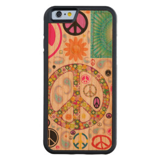 Peace & Paisley Collage Carved® Cherry iPhone 6 Bumper