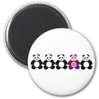 Peace Panda 2 Inch Round Magnet