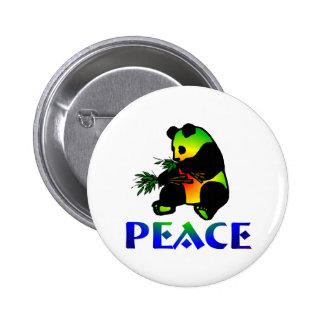 Peace Panda Bear 2 Inch Round Button