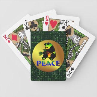 Peace Panda Bear Bicycle Playing Cards