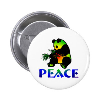 Peace Panda Bear Pins