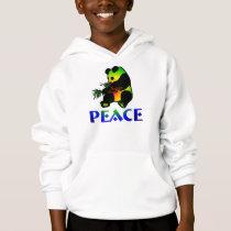 Peace Panda Bear Hoodie