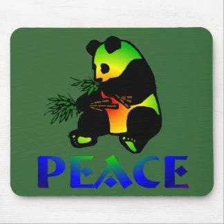 Peace Panda Bear Mouse Pad
