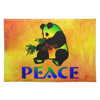 Peace Panda Bear Placemat