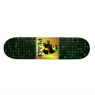 Peace Panda Bear Skateboard Deck