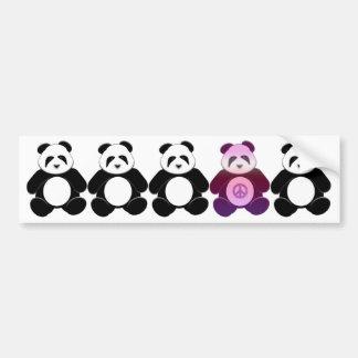 Peace Panda Car Bumper Sticker