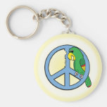 Peace Parrot Keychain