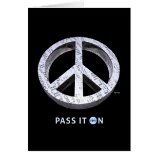 Peace: Pass It On Card