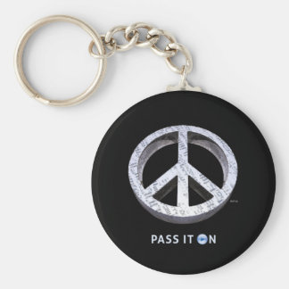 Peace: Pass It On Keychains
