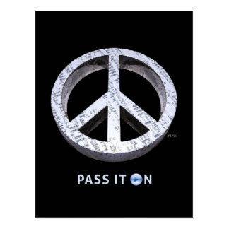 Peace: Pass It On Postcard
