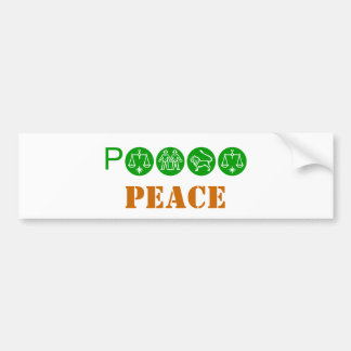 PEACE, PEACE BUMPER STICKER