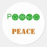PEACE, PEACE CLASSIC ROUND STICKER