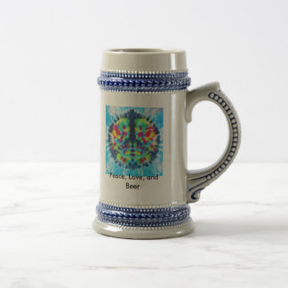 Peace, Peace, Love, and Beer Coffee Mugs