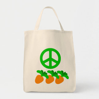Peace (Peas) and Carrots Tote Bag