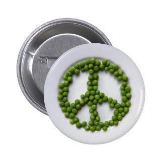 Peace Peas Button
