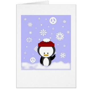 Peace Penguin Holiday Card