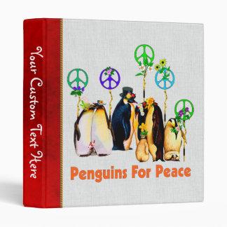 Peace Penguins 3 Ring Binder