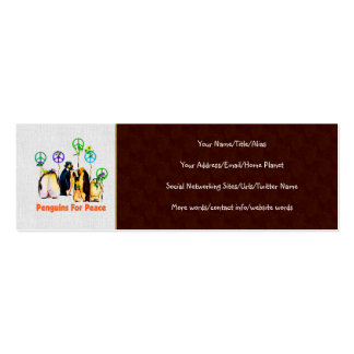 Peace Penguins Double-Sided Mini Business Cards (Pack Of 20)