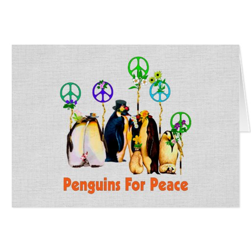 Peace Penguins Greeting Card