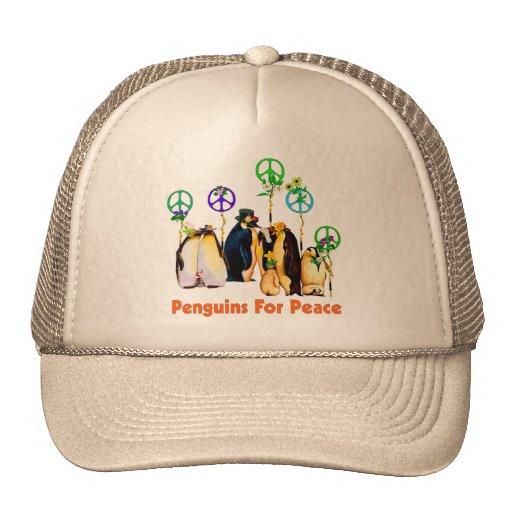 Peace Penguins Hat