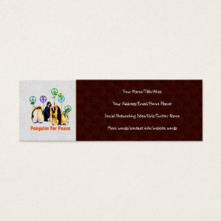 Peace Penguins Mini Business Card
