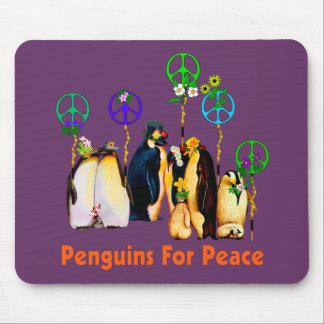 Peace Penguins Mouse Pad