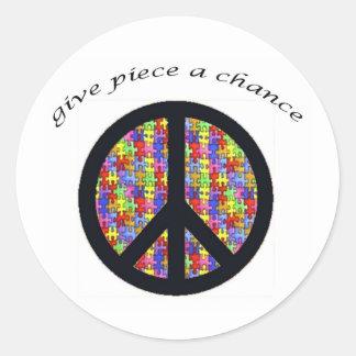 peace_piece classic round sticker