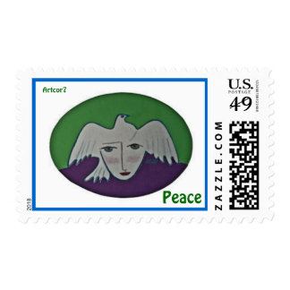 Peace Pigeon Face  Medium Stamp