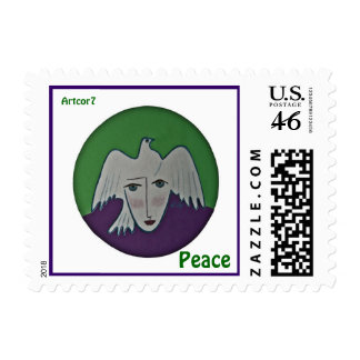 Peace Pigeon Face Small Stamp