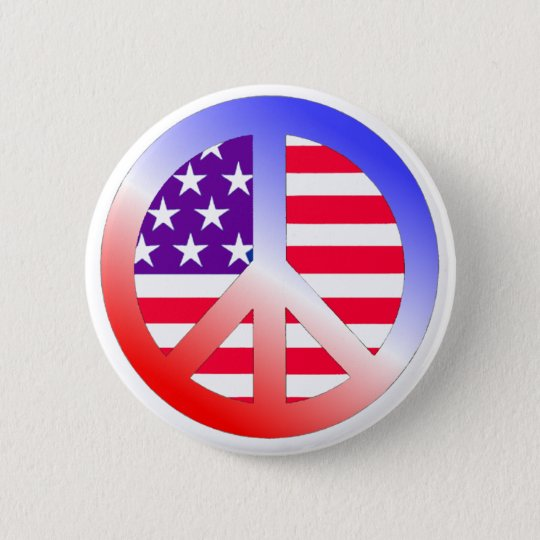 PEACE PINBACK BUTTON
