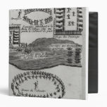 Peace pipe dance of the Iroquois 3 Ring Binder