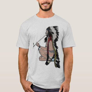 Peace Pipe Native American POPART Apparel T-Shirt