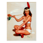 Peace Pipe Pin-Up Postcard