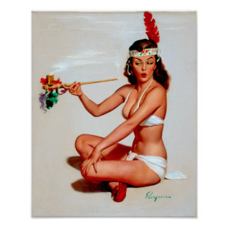 Peace Pipe Pin Up Poster
