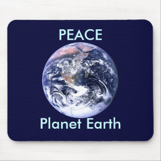 PEACE Planet Earth Day The MUSEUM Zazzle Gifts Mouse Pad