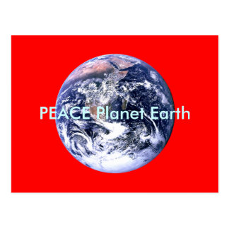 PEACE Planet Earth Day The MUSEUM Zazzle Gifts Postcard