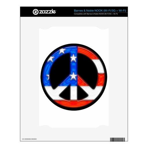 Peace.png americano calcomanía para el NOOK