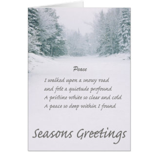 Seasons greetings poems image collections greeting card designs winter poem greeting cards zazzle peace poem winter road card m4hsunfo image collections m4hsunfo