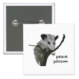 Peace Possum Button