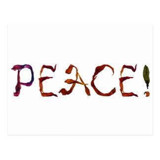 peace! postcard
