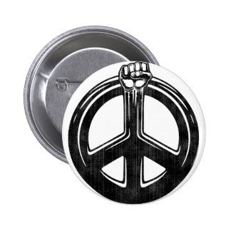 Peace Power! Button