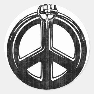 Peace Power! Classic Round Sticker