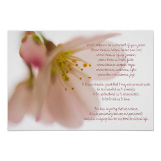 Peace Prayer Poster, St. Francis of Assisi Poster