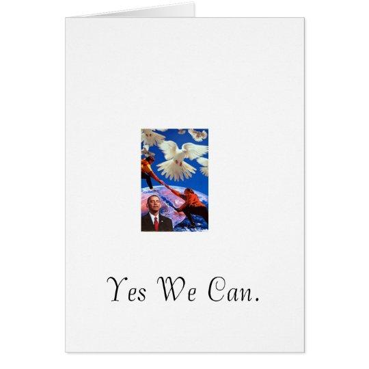 Peace President Card