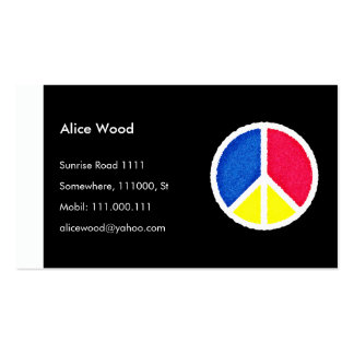 PEACE Profile Card Business Card